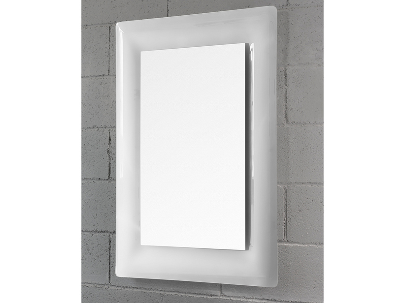 BATHROOM MIRROR TORO BORDER CRYSTAL CURVED FINISH WHITE 96Hx69Lx2,5P