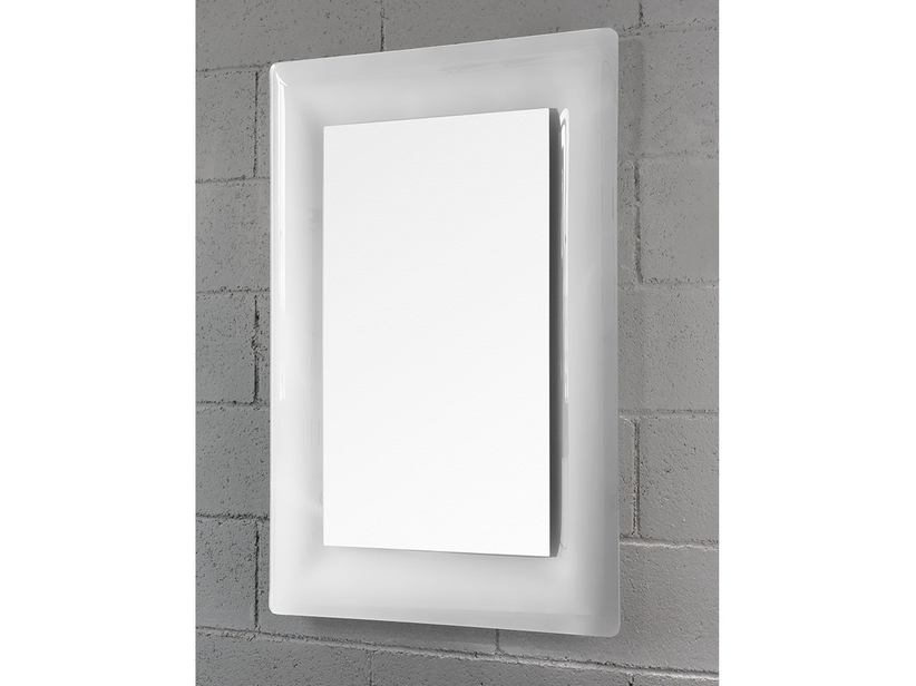 BATHROOM MIRROR LED TORO BORDER CRYSTAL CURVED FINISH WHITE 96Hx69Lx2,5P
