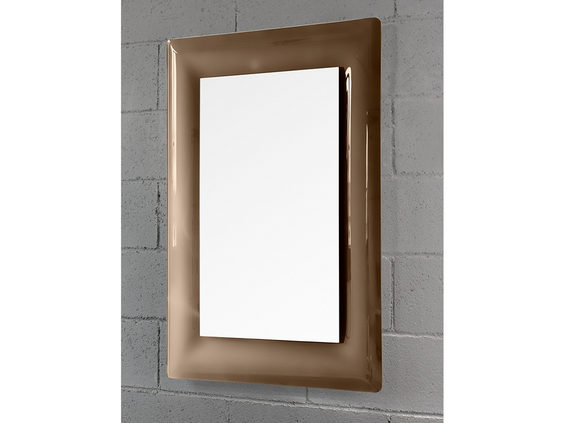 BATHROOM MIRROR LED TORO BORDER CRYSTAL CURVED FINISH BROWN 96Hx69Lx2,5P