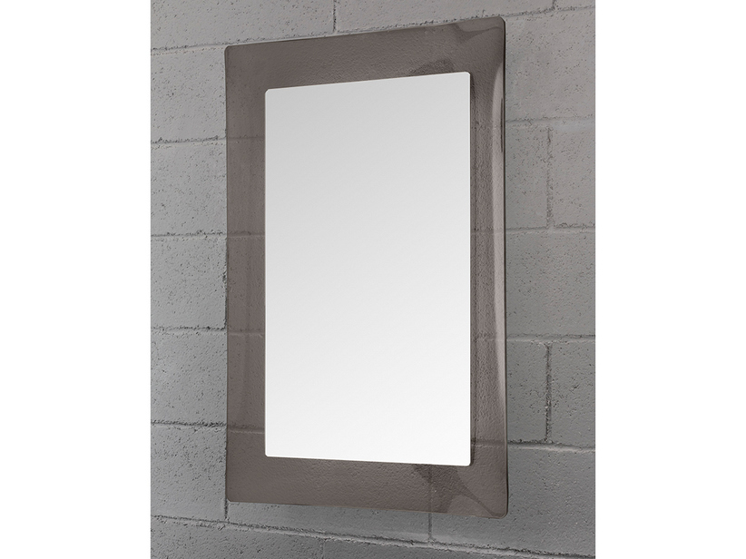 BATHROOM MIRROR GEMELLI BORDER CRYSTAL CURVED FINISH BRONZE TRANSPARENT 96Hx69Lx2,5P