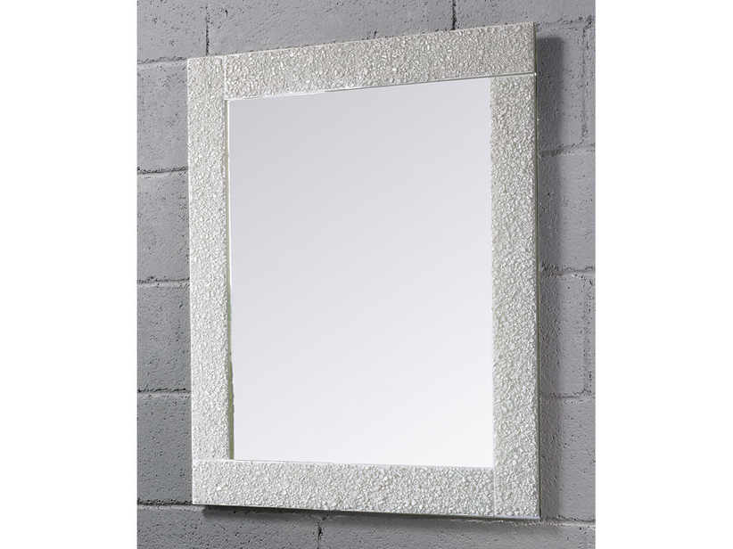 BATHROOM MIRROR SAGITTARIO BORDER CRYSTAL FUSO FINISH WHITE 70Lx90Hx3P