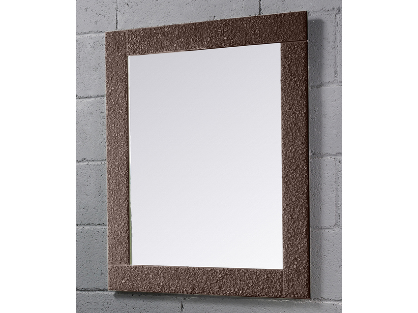 BATHROOM MIRROR SAGITTARIO BORDER CRYSTAL FUSO FINISH BROWN 70Lx90Hx3P