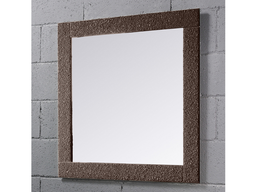 BATHROOM MIRROR SAGITTARIO BORDER CRYSTAL FUSO FINISH BROWN 90Lx90Hx4P
