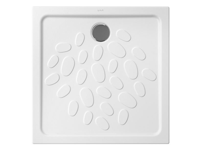 OCEAN SHOWER TRAY 80x80x4 WHITE MATT