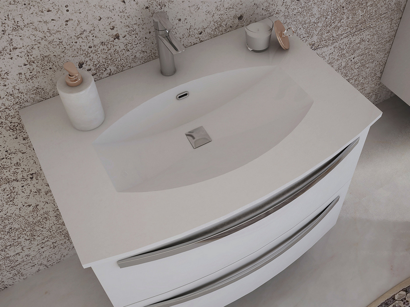CORALLO INTEGRATED WASHBASIN RESIN 75x52