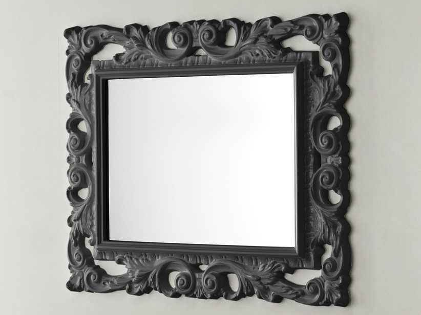 BAROQUE MIRROR 94X75 ANTHRACITE