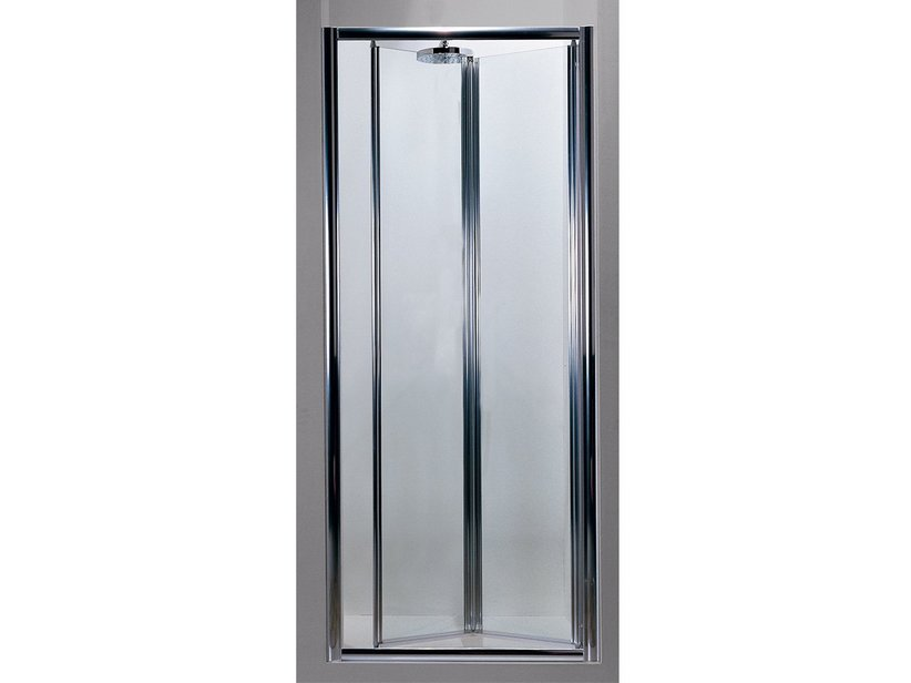 KASAI FOLDING DOOR 100 GLASS/TRANSP. CHROME
