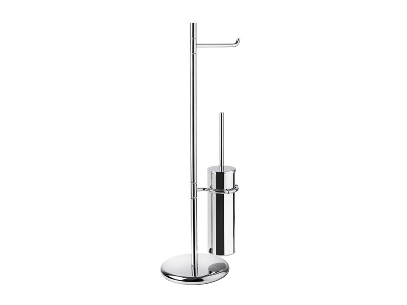 AGO SERIES FREESTANDING TOWEL RACK WITH ROLL HOLDER NAD BRUSH HOLDER