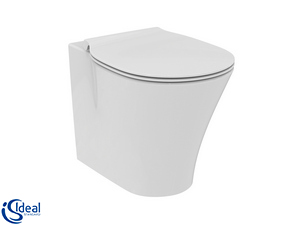 Wc a Terra Ideal Standard® Connect Air Aquablade Filomuro Scarico Traslato Bianco Lucido