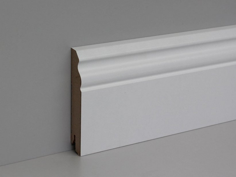BIANCO DUCALE SKIRTING L. 2,4 MDF