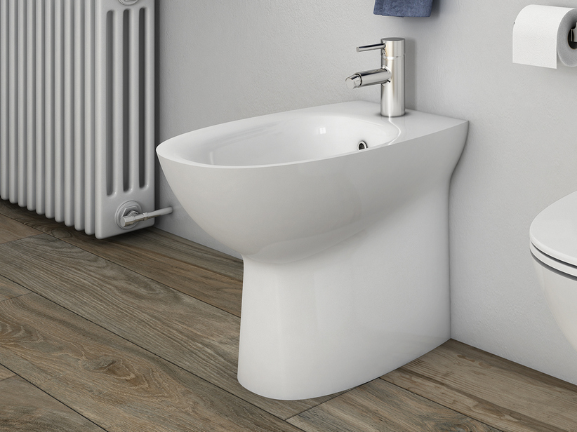 BERNA FLOOR-MOUNT BIDET BACK-TO-WALL TERRA 52X36