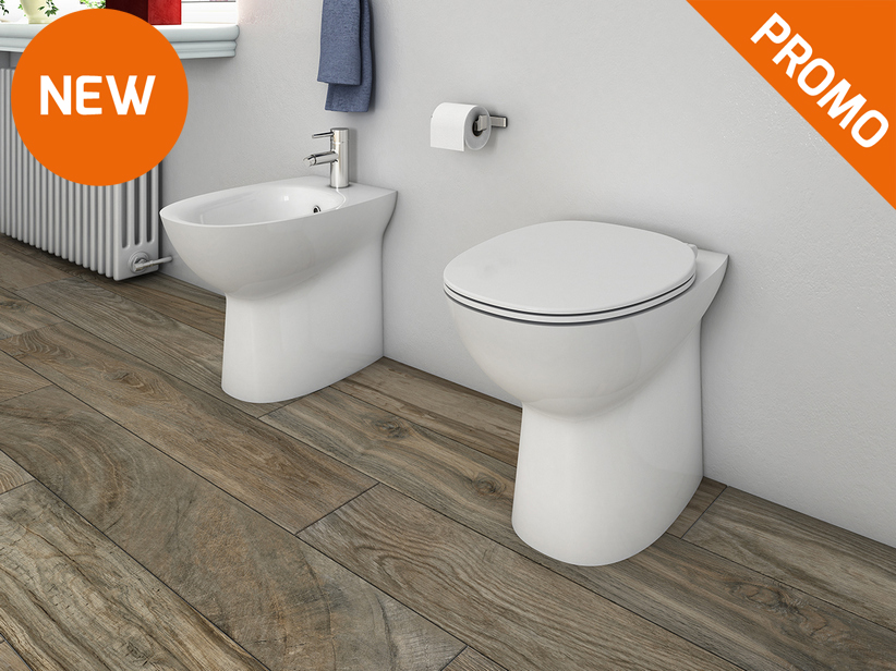 Berna Floor-Mount Back-to-Wall Rimless Sanitary Ware