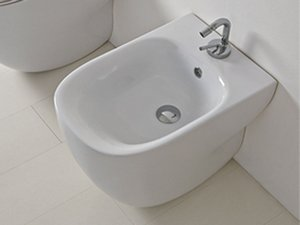 WILD BIDET A TERRA cm. 52x34 DESIGN BACK-TO WALL - BIANCO