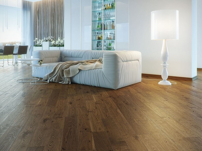Listone Parquet Rovere Spazzolato Scuro - Oak Brown Sugar