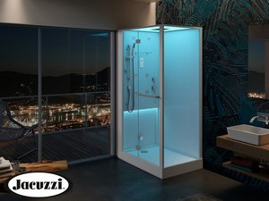 JACUZZI® BALI LED/HAMMAM SHOWER CABIN 120X80 WHITE MATT