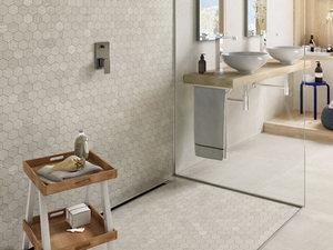 Mosaico Cargo Gesso 28 2x29 3 Gres Effetto Resina Bianco Avorio Iperceramica