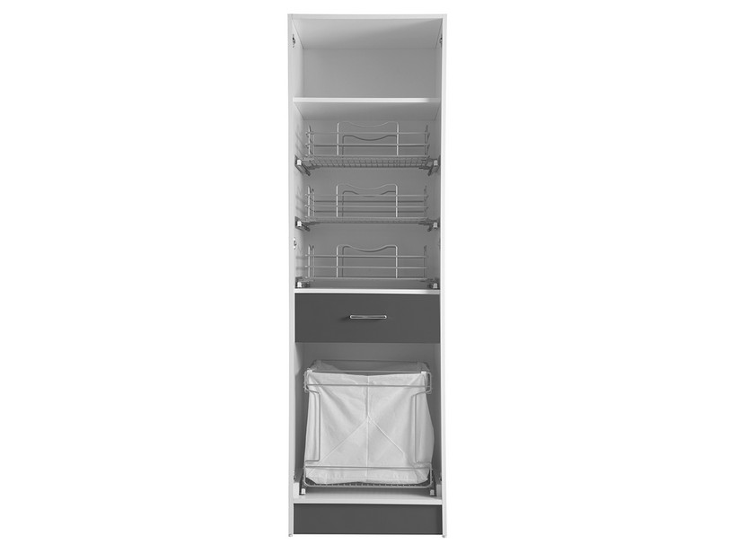 COLF9 COLUMN WITH LAUNDRY BASKET ANTHRACITE GREY