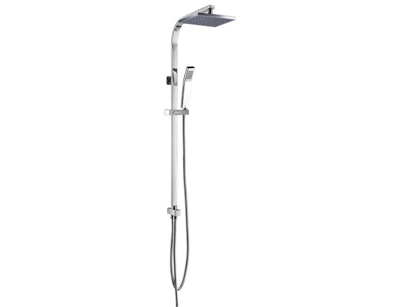AMELIE SQUARE SHOWER COLUMN WITHOUT MIXER CHROME