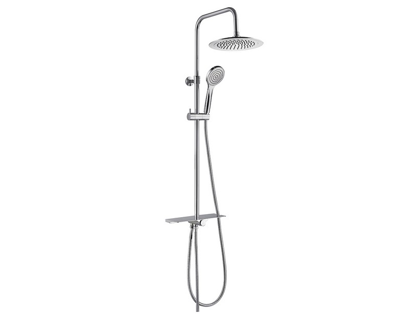 CECILE ROUND SHOWER COLUMN WITHOUT MIXER CHROME