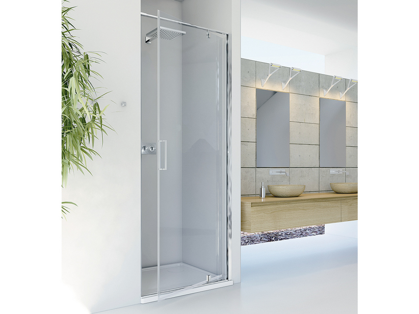 DADO SHOWER DOOR 90 H200 ROTATING HINGED DOORS DX TRANSPARENT CHROME