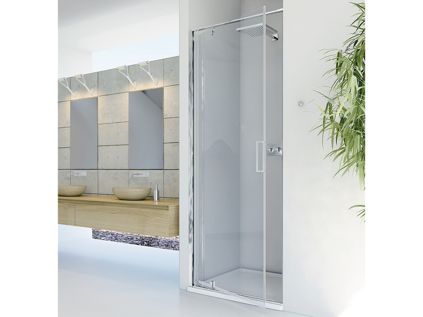 DADO SHOWER DOOR 100 H200 ROTATING HINGED DOORS SX TRANSPARENT CHROME