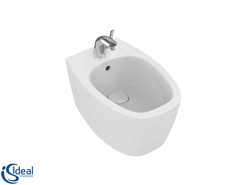 DEA BACK-TO-WALL BIDET GLOSSY WHITE