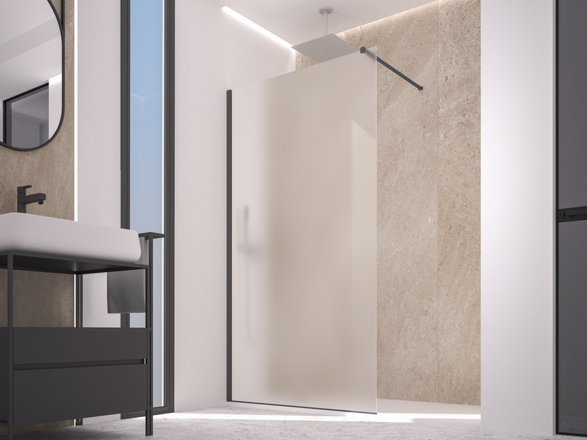 ZEN COLOR WALK IN SHOWER 112-114 CM H200 ETCHED ANTHRACITE