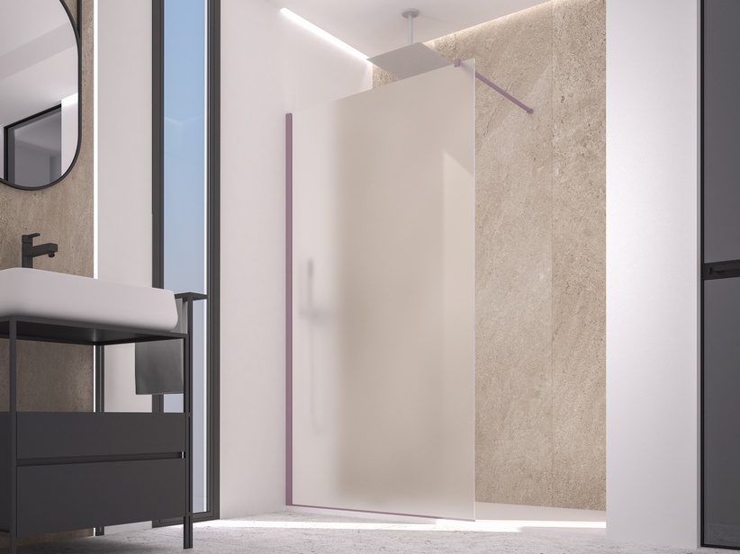 ZEN COLOR WALK IN SHOWER 116-118 CM H200 ETCHED LAVENDER