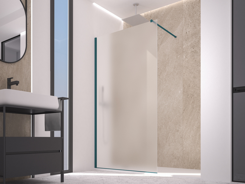 ZEN COLOR WALK IN SHOWER 84-86 CM H200 ETCHED NIGHT WATCH