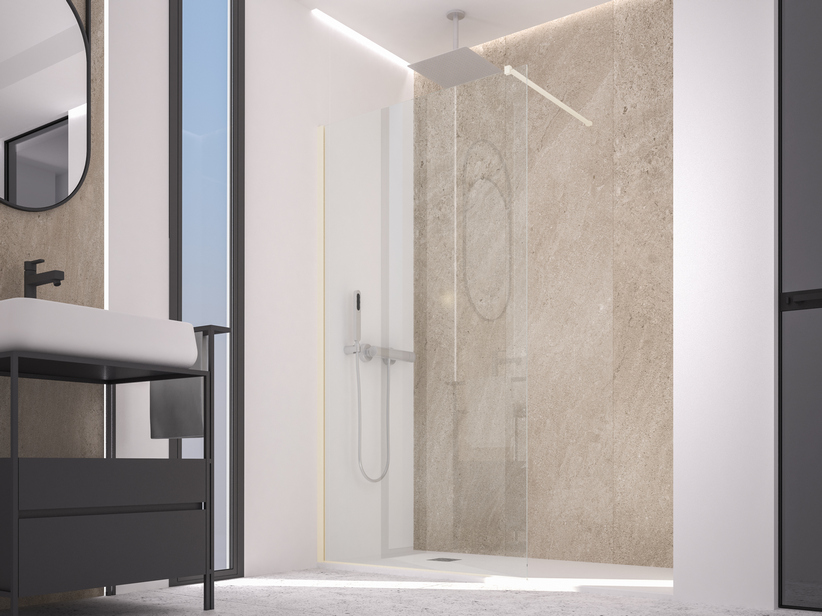 ZEN COLOR WALK IN SHOWER 114-116 CM H200 TRANSPARENT CHAMPAGNE
