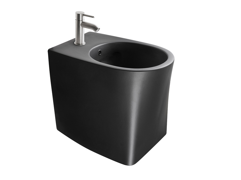 DP FLOOR-MOUNTED BIDET BLACK MATT