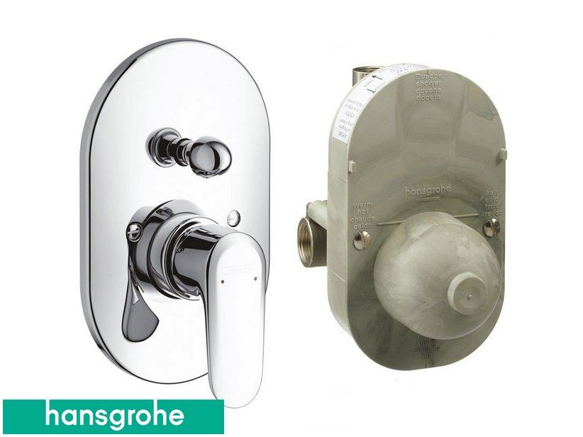 ECOS SHOWER MIXER TRIM WITH DIVERTER CHROME