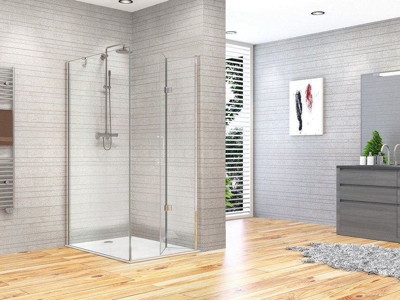 FANTASY2 BE-FOLD SHOWER ENCLOSURE DOOR+FIXED SLIDE 70X80