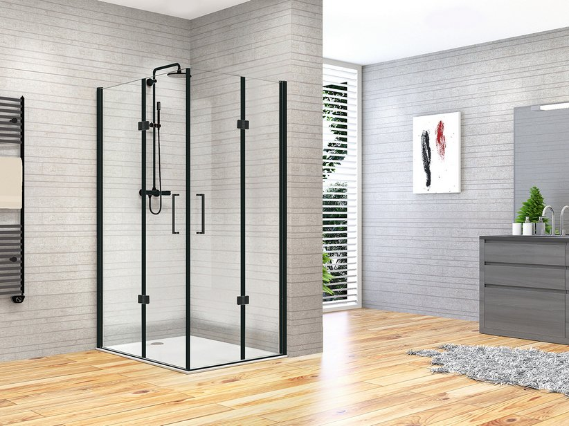 FANTASY2 BE-FOLD SHOWER ENCLOSURE 80x80 BLACK MATT