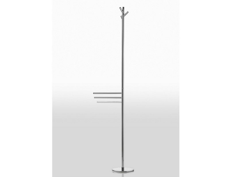 FILO SERIES FREESTANDING TALL TOWEL RACK ROBE OR TOWEL HANGER