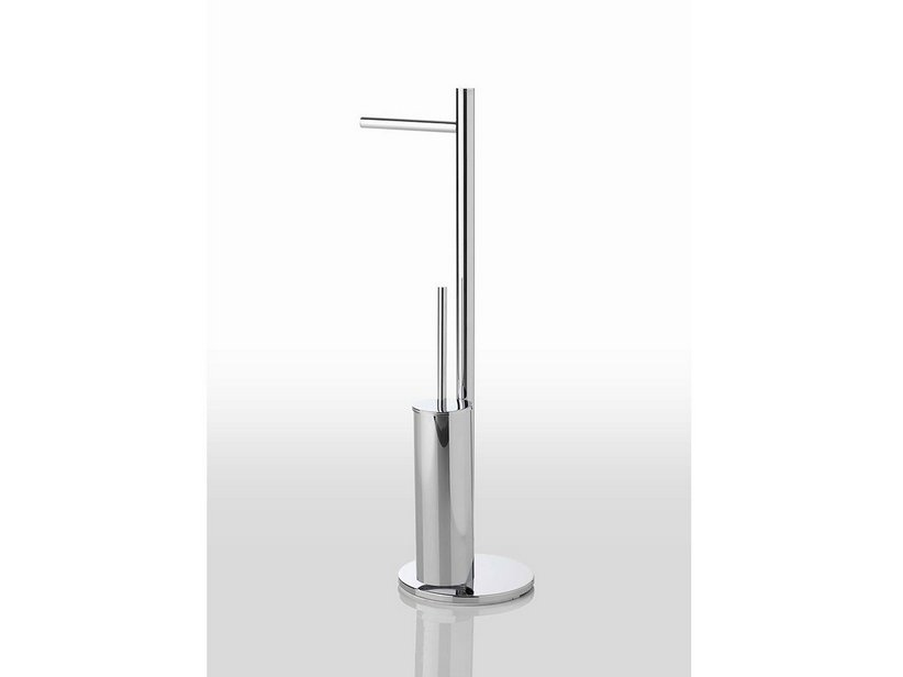 FILO SERIES FREESTANDING TOWEL RACK WITH ROLL HOLDER NAD BRUSH HOLDER