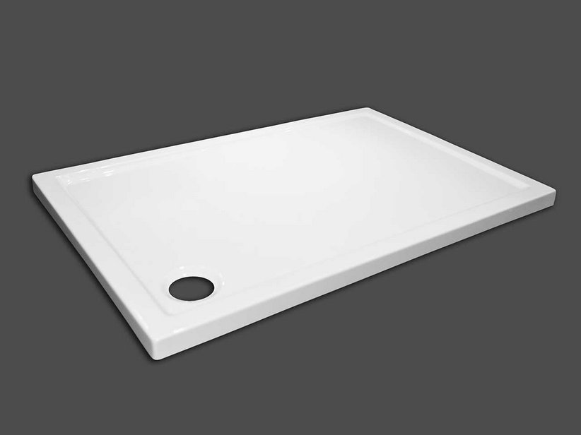 FLAT SHOWER TRAY 80X150 H5 WHITE