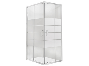 FOXE SHOWER BOX RECTANGULAR SLIDING DOORS 70X120 H190 REV - SCREEN-PRIN