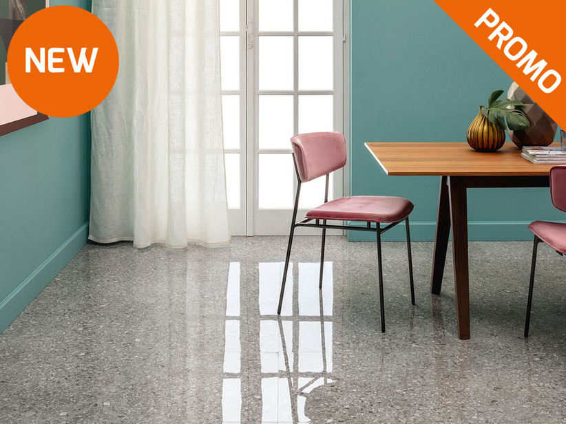 Super Glossy Rectified  Grit effect Porcelain tile  - Gallery