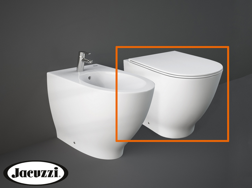 JACUZZI® GLOW FLOOR-MOUNT PAN 56x36 WITH UNIVERSAL DRAIN RIMLESS