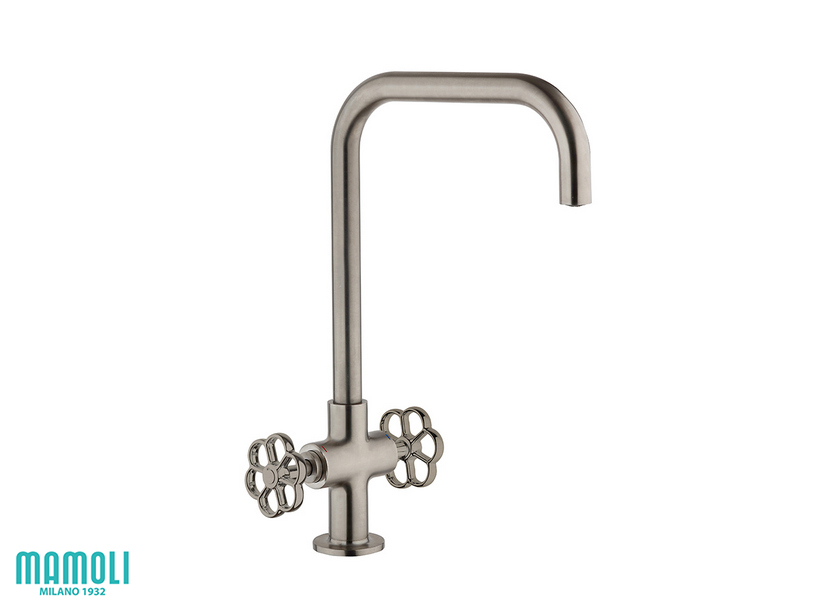 HIPSTER KITCHEN TAP SWIVEL NICKEL BRUSHED