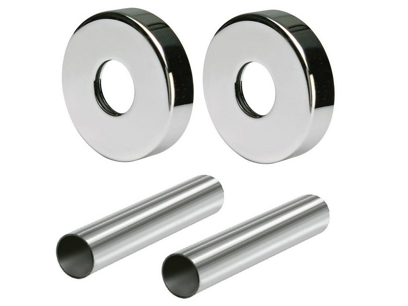 ROUND PIPE COVERING KIT WITH 2 WASHERS 0491 CHROME