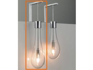 Lampade da bagno incantevole applique metallo cromato diffusore