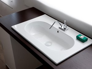 FRANK UNITOP WASHBASIN 76x46 CERAMIC