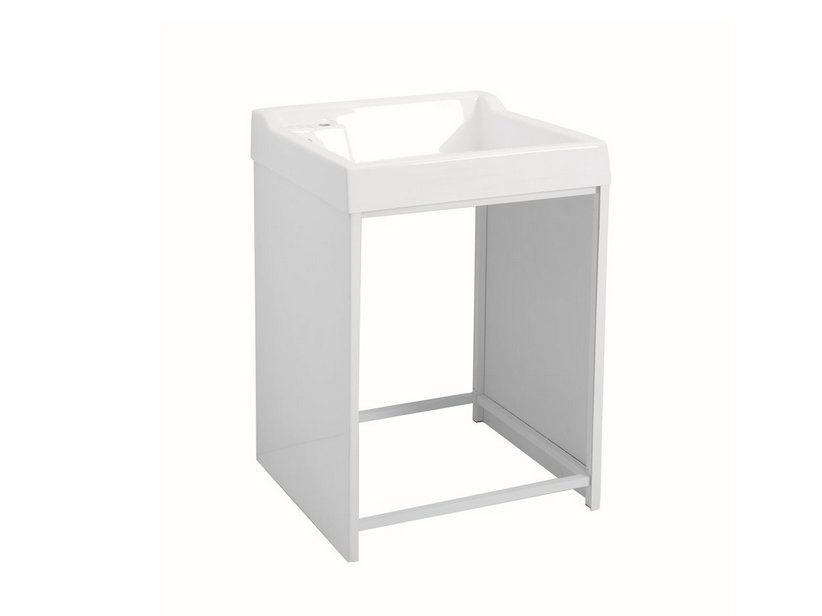 LAVACRIL ON WASHER CABINET WITH ALUMINIUM STRUCTURE