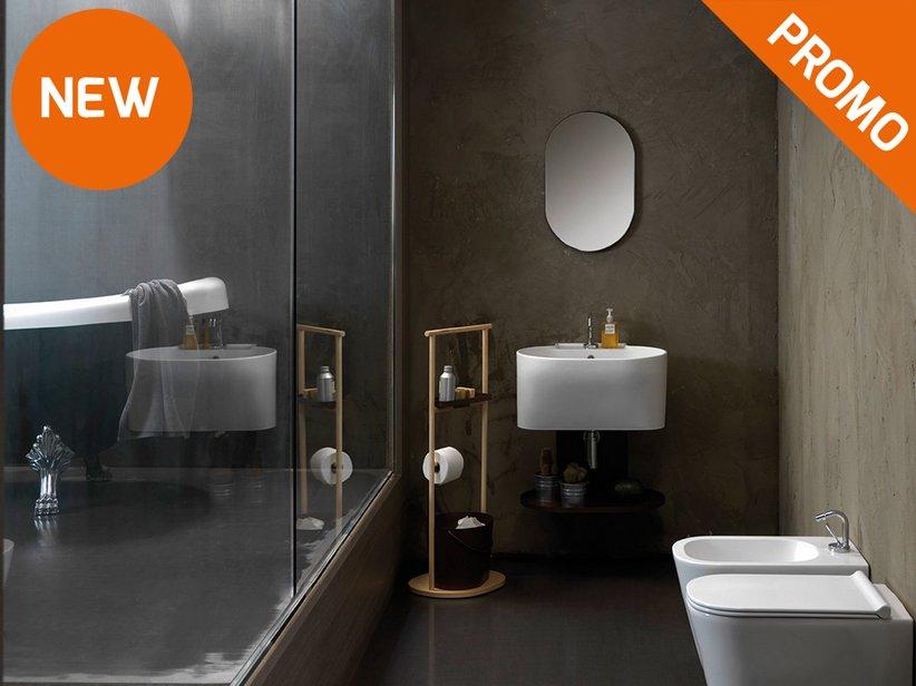 Mobili Lavanderia con lavabi lavatoio in ceramica serie Tino ...