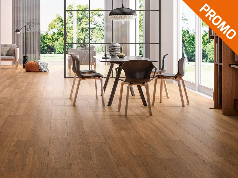 Natural Oak Wood Effect Tile - Life