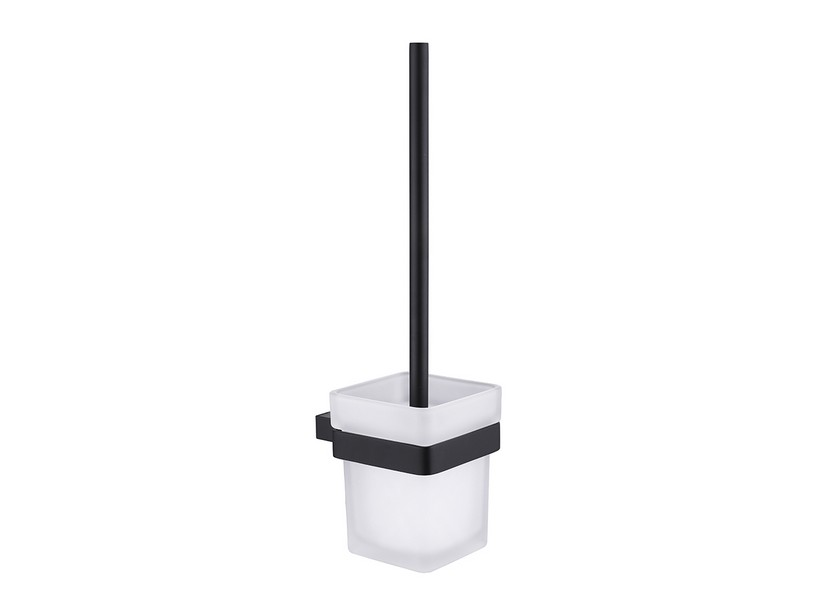 LILIAN WALL TOILET BRUSH HOLDER BLACK MATT