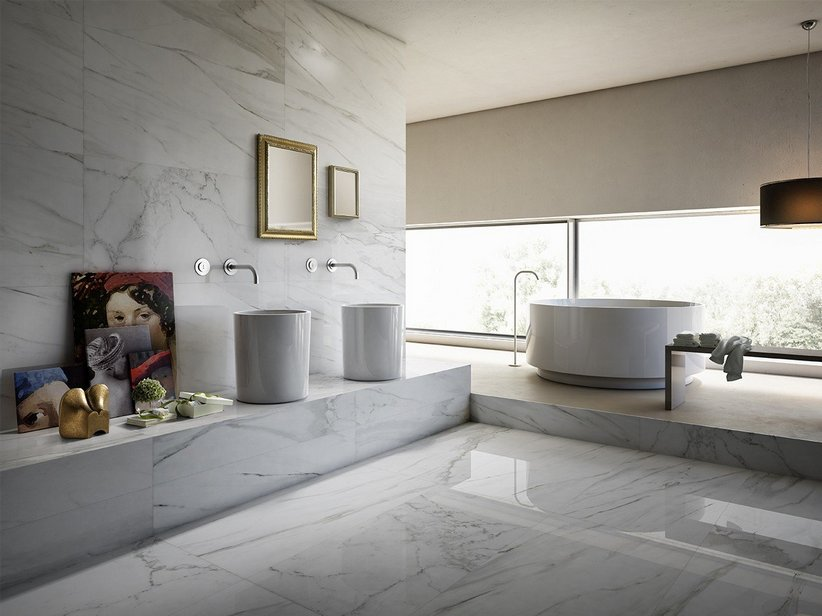 Lapped Marble Effect Wall Tiles - Luni