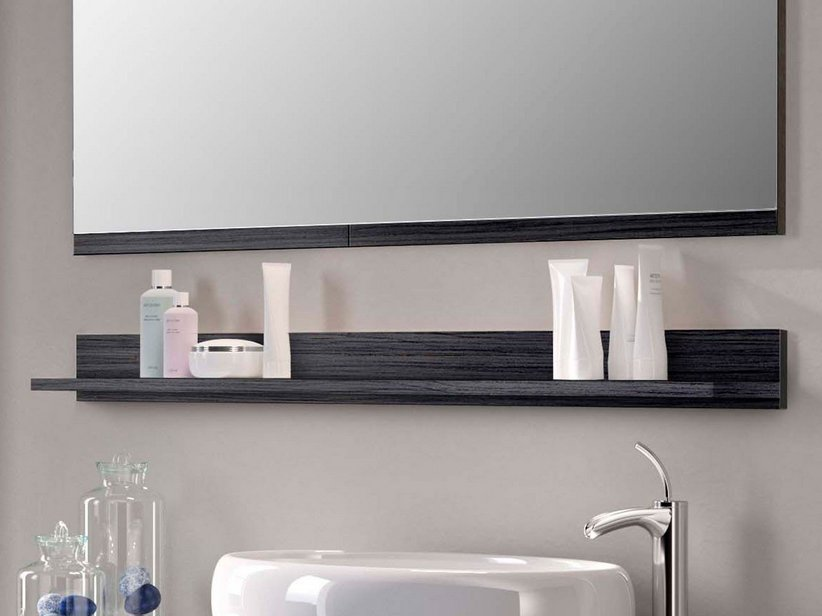 SMART SHELF 'L' 118 x10 h12 BLACK LARCH